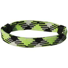 Hockey Lace Bracelet Neon Argyle Adjustable Wrister Bracelet