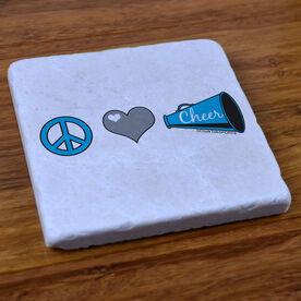 Peace Love Cheer - Stone Coaster