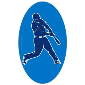 Baseball Oval Car Magnet Batter