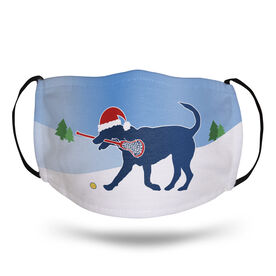 Girls Lacrosse Face Mask - Santa Dog
