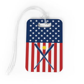 Softball Bag/Luggage Tag - USA Softball Girl