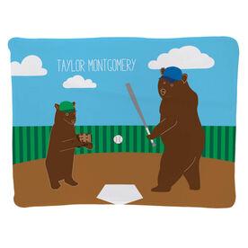 Baseball Baby Blanket - Bears