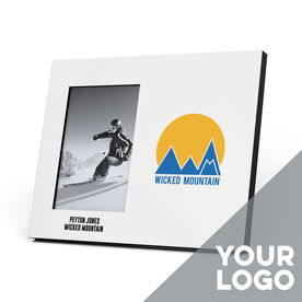 Skiing and Snowboarding Photo Frame - Custom Logo