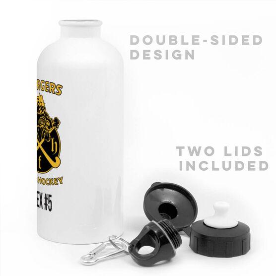 Field Hockey 20 oz. Stainless Steel Water Bottle - Custom Logo