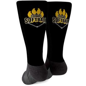 Softball Printed Mid-Calf Socks - Your Logo