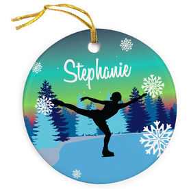 Figure Skating Porcelain Ornament Skater On Ice