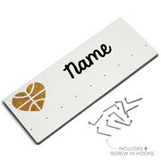 Basketball Hooked on Medals Hanger - Heart with Gold Basketball