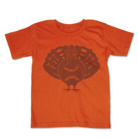 Baseball Toddler Short Sleeve Tee - Turkey Player