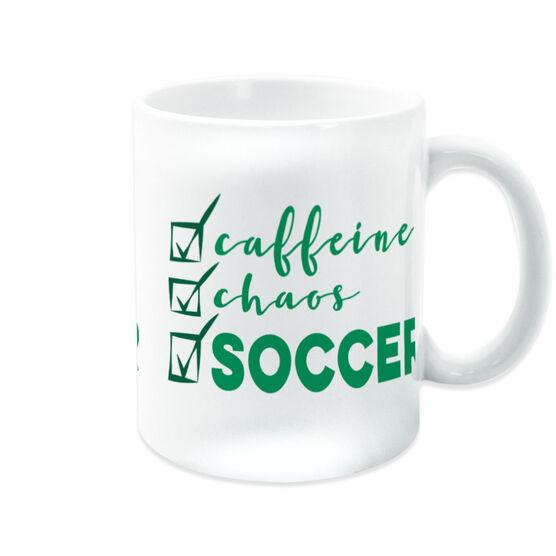 Soccer Coffee Mug - Caffeine, Chaos and Soccer