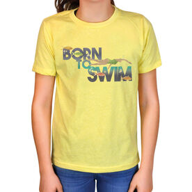 Vintage Swimming T-Shirt - Born To Swim