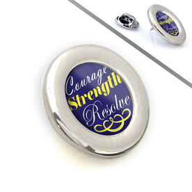 Sport Lapel Pin Courage Strength Resolve