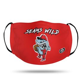 Seams Wild Baseball Face Mask - Rojo Chomp