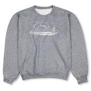 Fly Fishing Crew Neck Sweatshirt - Fly Fishing Sketch