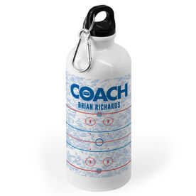 Hockey 20 oz. Stainless Steel Water Bottle - Coach Rink