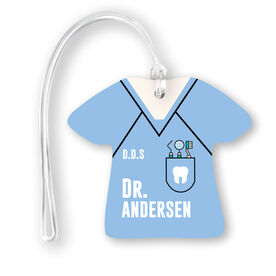 Personalized Jersey Bag/Luggage Tag - Dentist Outfit