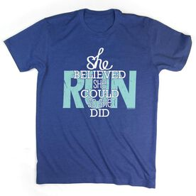 Youth T-Shirt Short Sleeve She Believed She Could So She Did