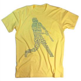 Vintage Baseball T-Shirt - Word Silhouette