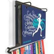 BibFOLIO+™ Race Bib and Medal Display - Believe Triathlon Girl
