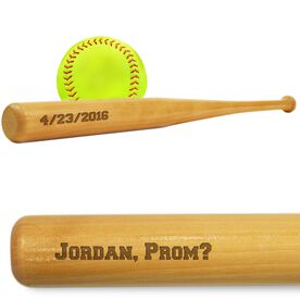 Softball Mini Engraved Bat Double Sided Promposal