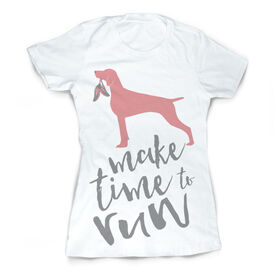 Vintage Running Fitted T-Shirt - Make Time To Run