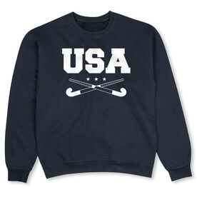 Field Hockey Crew Neck Sweatshirt - USA Field Hockey