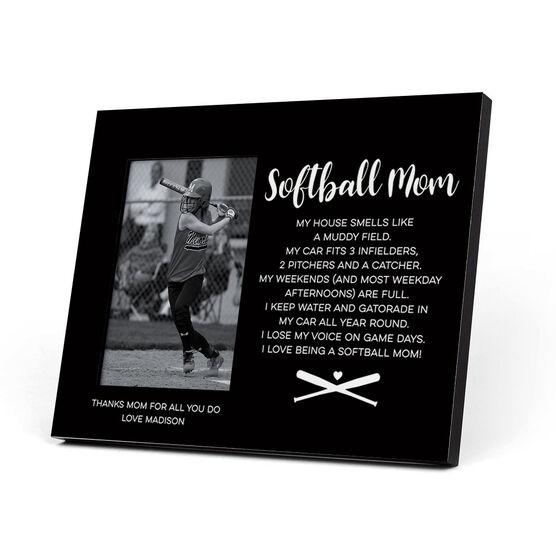 Softball Photo Frame - Softball Mom Poem