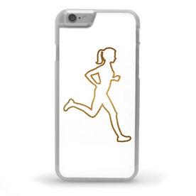 Running iPhone® Case - Female Runner Outline
