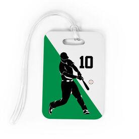 Baseball Bag/Luggage Tag - Personalized Baseball Player Silhouette Guy