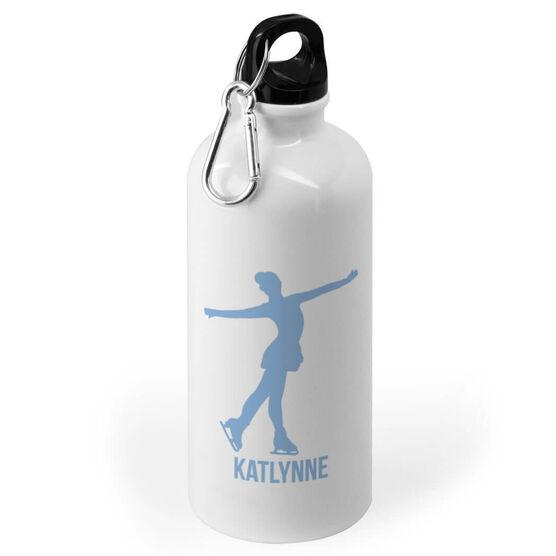 Figure Skating 20 oz. Stainless Steel Water Bottle - Figure Skating Silhouette