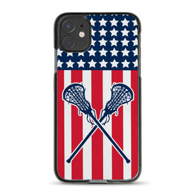 Girls Lacrosse iPhone® Case - USA Lax Girl