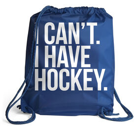 Hockey Sport Pack Cinch Sack - I Can't. I Have Hockey