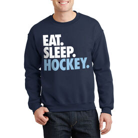 Hockey Crew Neck Sweatshirt - Eat Sleep Hockey (Bold)
