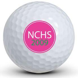 High School Spirit Circle Golf Balls