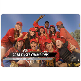 "Softball 18"" X 12"" Aluminum Room Sign - Classic Horizontal Photo"