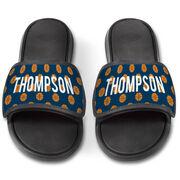 Basketball Repwell® Slide Sandals - Personalized Basketball Pattern