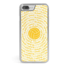 Volleyball iPhone® Case - Bump Set Spike Eat Sleep Repeat