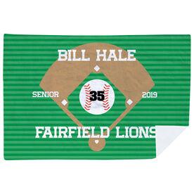 Baseball Premium Blanket - Personalized Baseball Senior