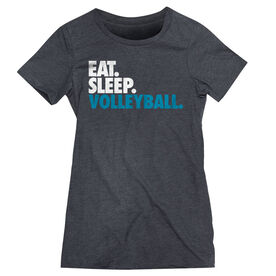 Volleyball Women's Everyday Tee - Eat. Sleep. Volleyball.