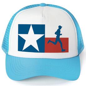 Running Trucker Hat - Texas Flag Male Runner
