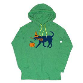 Girls Lacrosse Lightweight Hoodie - LuLa Witch Dog