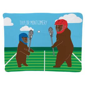 Guys Lacrosse Baby Blanket - Bears
