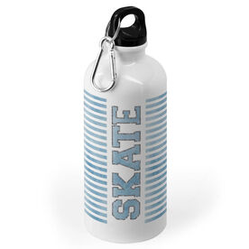 Figure Skating 20 oz. Stainless Steel Water Bottle - Word With Stripes
