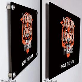 "Personalized 18"" X 12"" Aluminum Room Sign - Custom Logo Horizontal"