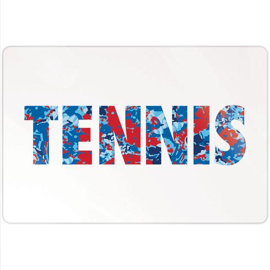 "Tennis 18"" X 12"" Aluminum Room Sign - Floral Tennis"