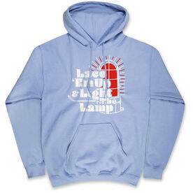 Hockey Hooded Sweatshirt - Lace 'Em Up And Light The Lamp