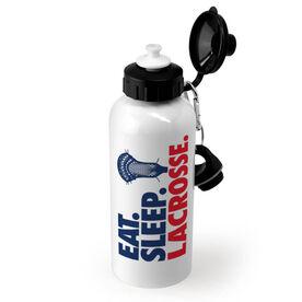Guys Lacrosse 20 oz. Stainless Steel Water Bottle - Eat Sleep Lacrosse
