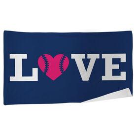 Softball Beach Towel Love Softball
