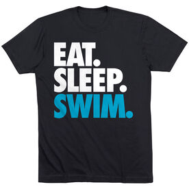 Swimming T-Shirt Short Sleeve Eat. Sleep. Swim.
