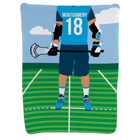 Guys Lacrosse Baby Blanket - Lacrosse Player