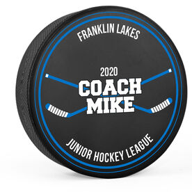 Personalized Hockey Puck - Coach Name